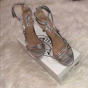 Steve Madden silver high heels .